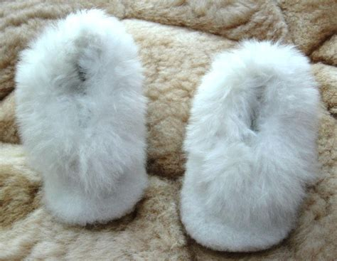 baby alpaca slippers soft white baby alpaca fur slippers 0 12 month