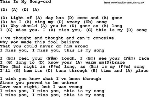 song for my this is my song by gordon lightfoot lyrics and chords