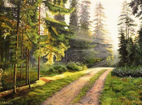 imagenes de paisajes naturales bosques cuadros modernos pinturas y dibujos bosques con