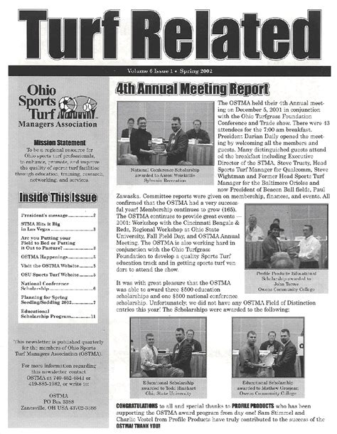 what is a newsletter turf related newsletter