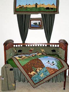 Wolf Crib Bedding Rustic Cabin Baby Nursery Decorating Pictures Decor Crib Bedding Sets Theme Moose Wolf