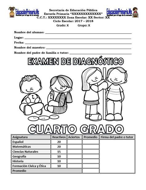 examen planea 2016 primaria examen diagnostico planea de 4 de primaria 2015 2016