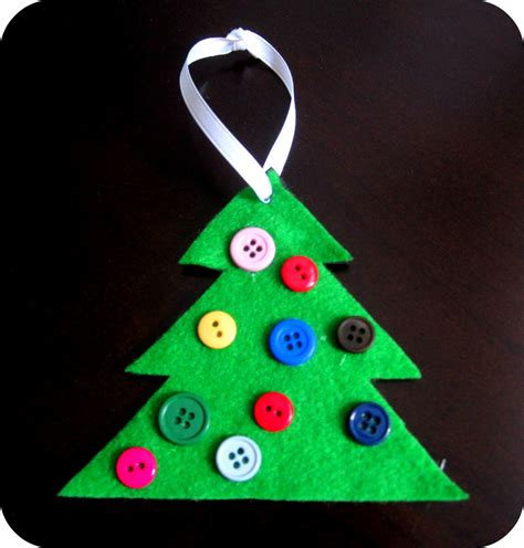 easy kid ornaments button tree ornament simple on
