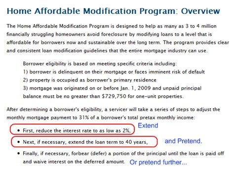mortgage modification h guidelines