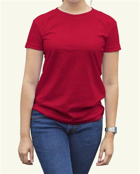 Kaos Polos O Neck Warna Merah Cabe Ukuran Xl Cotton Combed 20s toko jual grosir kaos distro kaos polos merah cabe