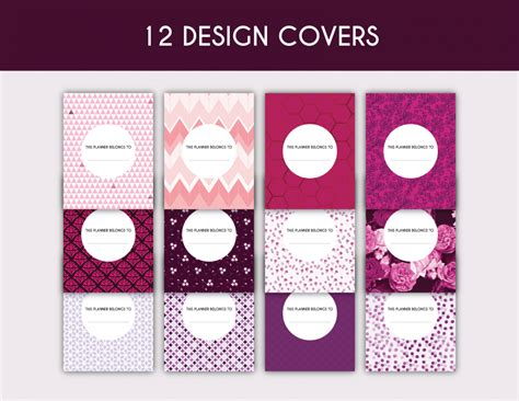 printable planner cover 200 printable planner pages planner addiction
