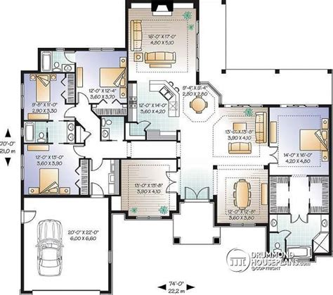 office open floor plan w3254 4 bedroom home large master suite home office