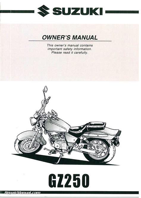 Suzuki Motorcycle Manual 1999 2000 Suzuki Gz250 Marauder Motorcycle Owners Manual