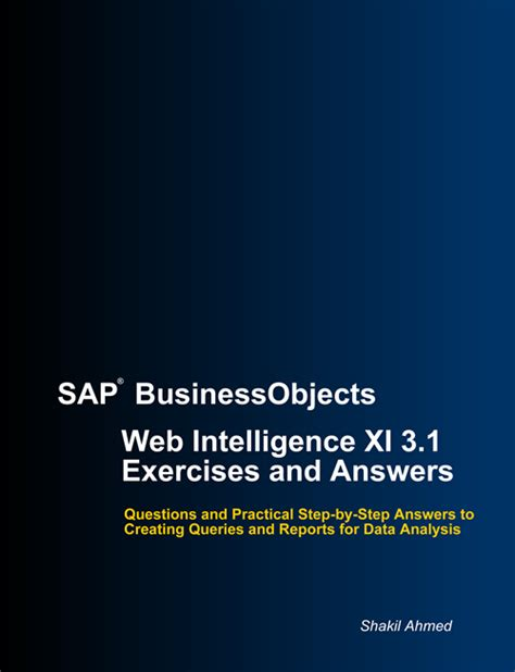 tutorial sap business intelligence front cover of web intelligence training exercises and