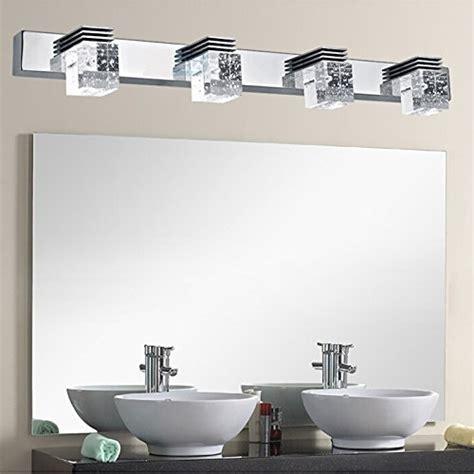 cool bathroom lighting bathroom mirror lighting fixtures mounted letsun modern 12w cool white 650lm 4 light led bathroom