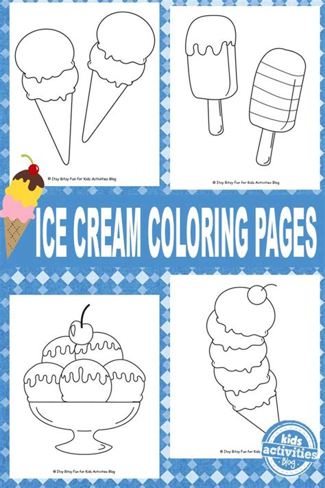 summer ice cream coloring pages ice cream coloring pages free kids printable coloring