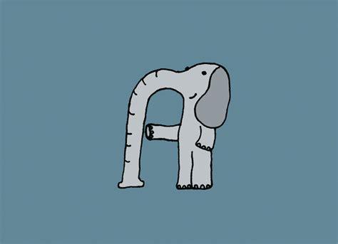 designboom elephant mirko humbert draws elephant alphabet in elefont typography