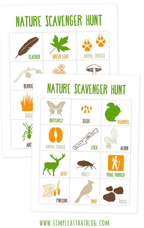 printable toddler scavenger hunt printable nature scavenger hunt