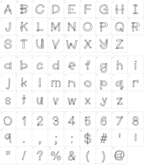 character map generator hello makerspace font