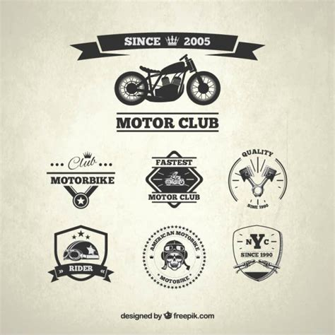 motor club badges vector free