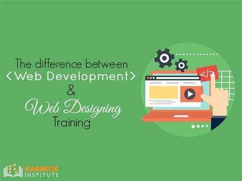 web design development certificate online the difference between web development web designing