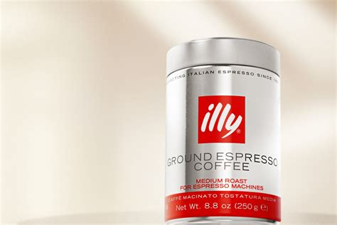 Coffee Illy espresso coffee ground illy