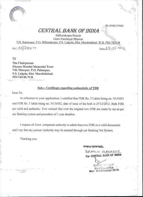 authorization letter for bank template letter template authority for bank authorization letter