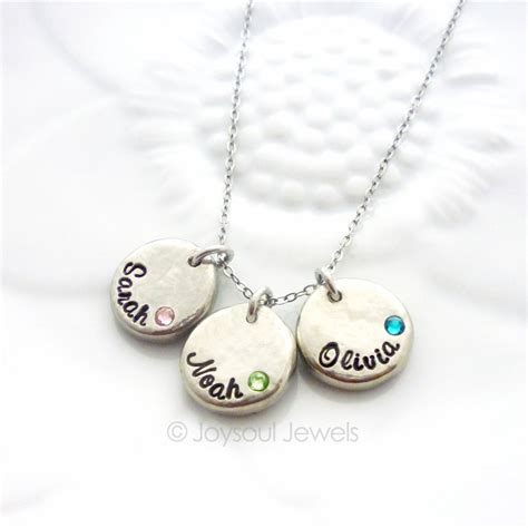 Dainty Personalized Birthstone Necklace Name Jewelry