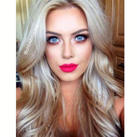 blonde colours for cool skin tones fuchsia makeup blonde lashes smokey eye pinterest