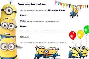 Party einladungen a5 format motiv minions 10 st amp uuml ck