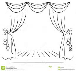 stag print curtains stage curtain sketch sketch coloring page