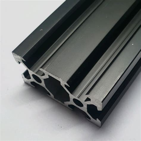 jual aluminium profile slot black ox cnc frame