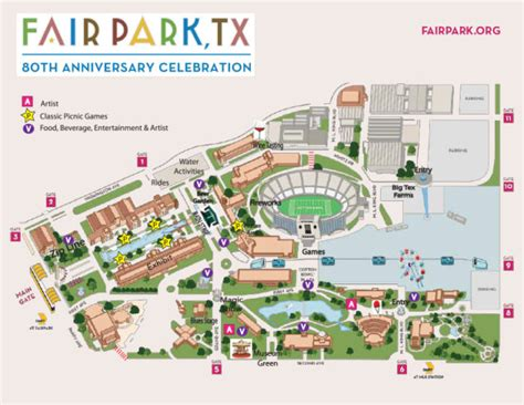 texas state fair parking map celebrate 80 years of fair park this week d magazine