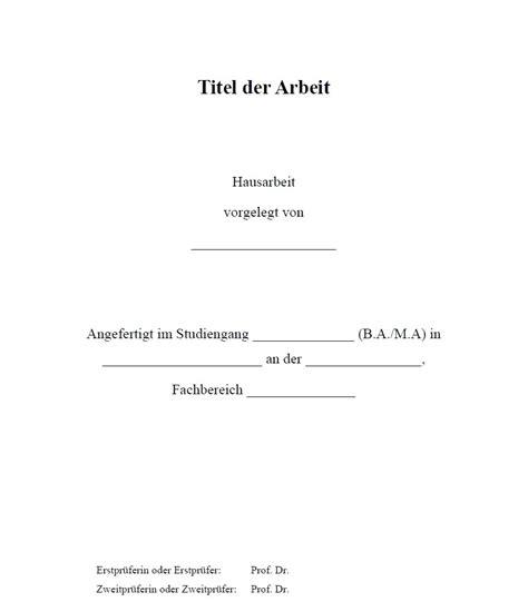 seminararbeit layout word deckblatt einer hausarbeit business and science