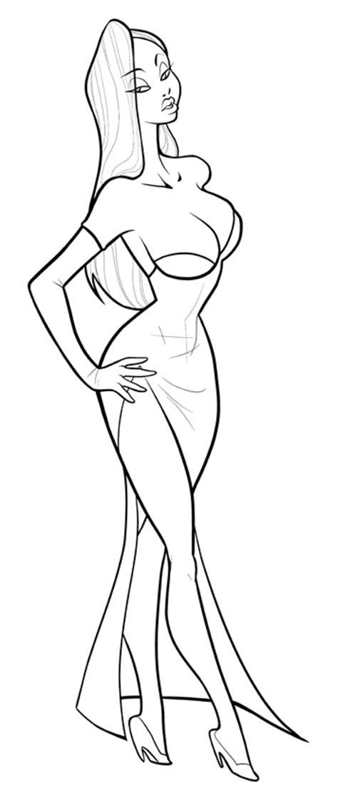 jessica rabbit free coloring pages