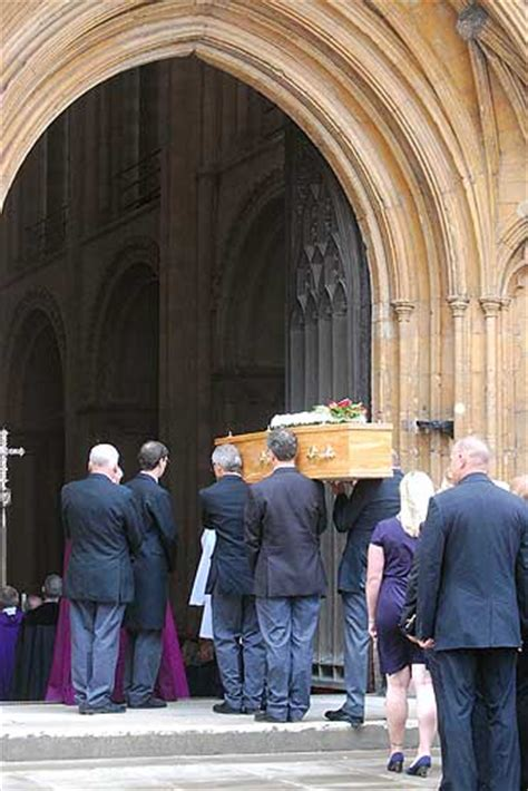 standing room only tv show in pictures roy waller s funeral at norwich cathedral