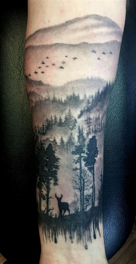 traditional scenery tattoos