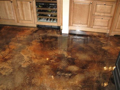 Enjoyable Adventure Stained Concrete Flooring Ideas For Cement Basement Floor Ideas
