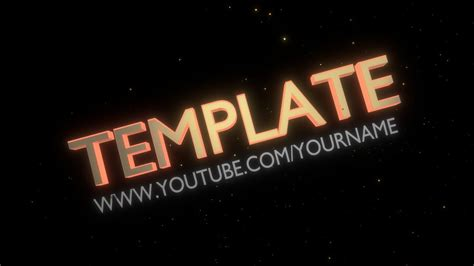 Free Blender Intro Template Youtube Free Blender Intro Templates