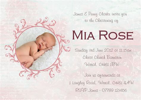 Happy Christening Card Template by Baby Christening Invitations Printable Baby