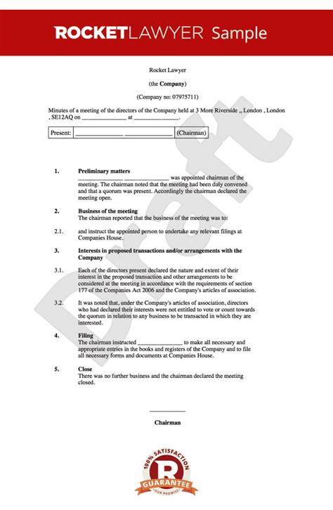 board minutes template sle board meeting agenda