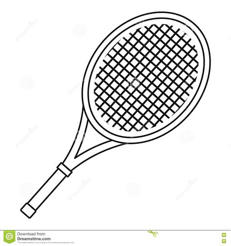 Racket Outline by Tennis Racket Icon Outline Style Stock Vector Image 79546209