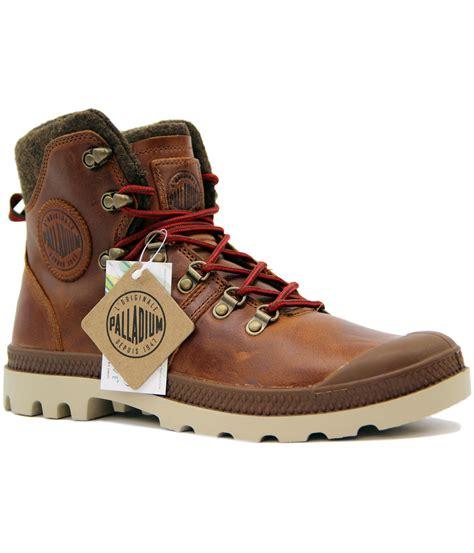 palladium hiking boots palladium pallabrouse hikr retro mod pull up leather