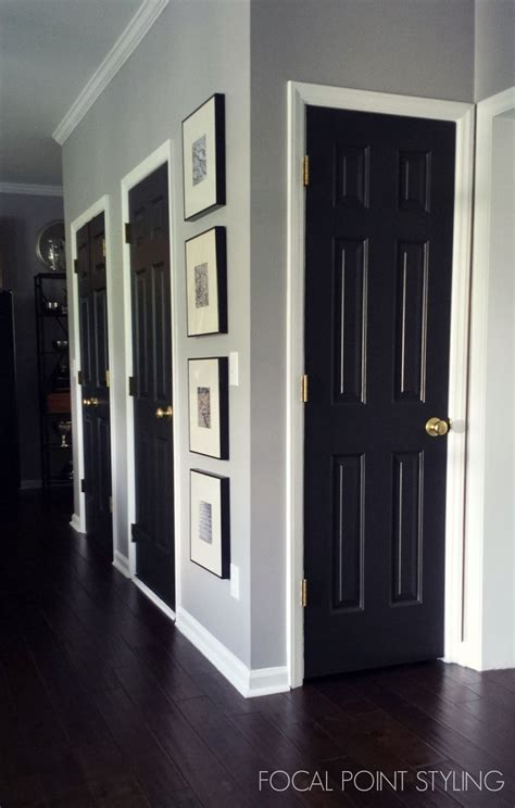 interior house door focal point styling painting interior doors black updating white trim black doors
