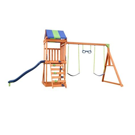 superior swing sets wood swingset kids play playset climber clubhouse fort