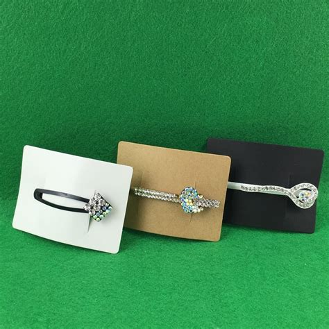 hair accessory display card template 200pcs 5x7cm hair clip card paper jewelry display cards