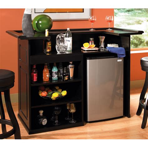 Bar With Refrigerator by Trenton Home Bar Mini Fridge Wine Cooler Bay Black