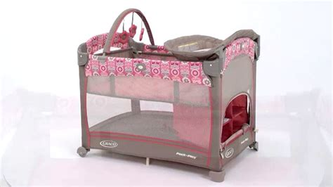 pink and brown graco pack n play with changing table minnie mouse graco pack and play imagui