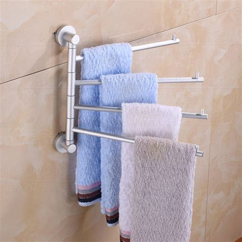 Bathroom Towel Hook Shelf New 4 Arms Wall Mounted Space Aluminum Pallet Hook