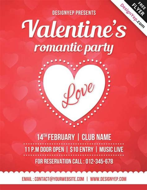 valentines flyer templates free 20 lovely free flyer templates utemplates