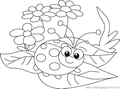 free lady bug mask coloring pages