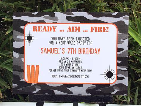 nerf birthday party printable templates nerf party theme