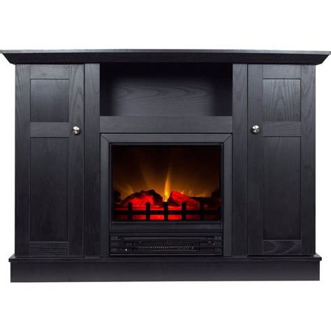 fireplace storage electric fireplace tv stand heater 50 media storage cabinet entertainment center ebay