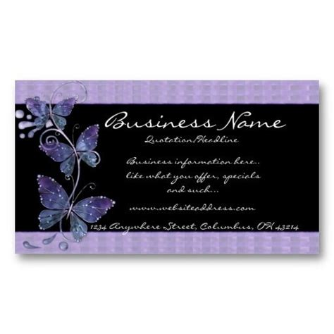 Butterflies And Pansies Business Card Template by 17 Best Images About Business Cards Animal Non Pet On