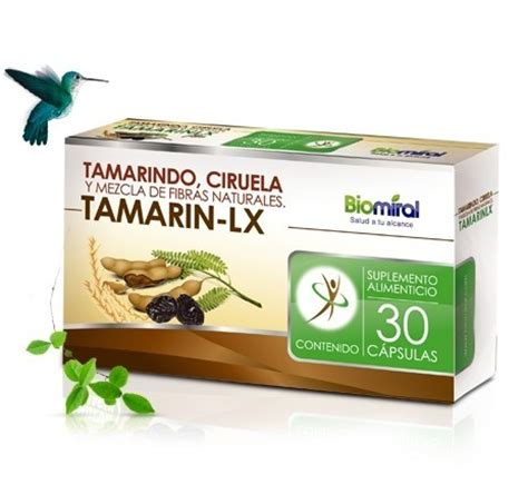 tamarin lx, 30 cÁpsulas, tamarindo, ciruela